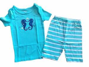 NWT Girl/'s Gymboree Mermaid Sea shirt shorts pajamas gymmies 12 18 24 months 2T