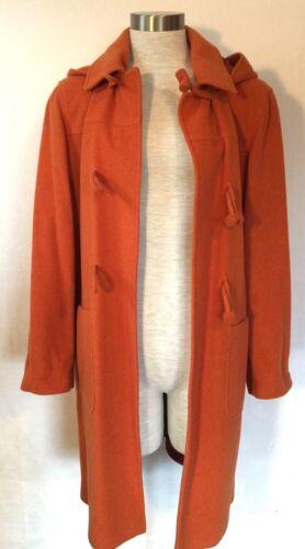 Coat 42 Small Størrelse Wool Dream Closure Made medium Orange Italy Toggle In Hood p6c0qvAP
