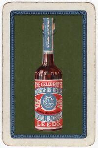Playing-Cards-Single-Card-Old-Vintage-YORKSHIRE-RELISH-Bottle-Advertising-Art-2