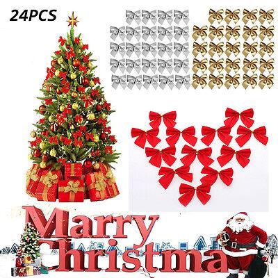 12pcs Large Bows Bowknot Christmas Tree