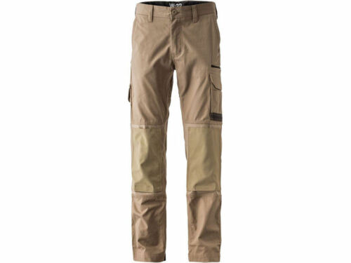 """gamba regolare o ALTO FXD WP1 Cachi Slim Fit Lavoro Pantaloni Taglia 28-44/"""" Girovita-CORTA"""