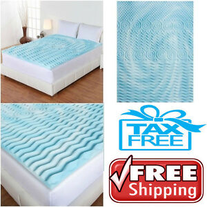 mattress topper gel memory foam 2 orthopedic pad bed cover firm full queen king ebay. Black Bedroom Furniture Sets. Home Design Ideas