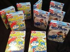 10 Boxes Of Post SMURF Cereal From 2011 Hanna Barbera Peyo Sealed & Full!