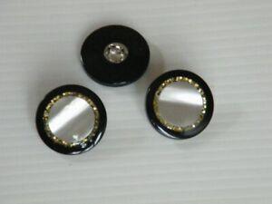 14-sehr-edle-Knoepfe-mit-Goldflitter-15mm