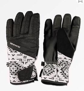 DAKINE-Womens-Waterproof-Gloves-Snowboard-Ski-Glove-Tribal-Tan-Black-Large-L