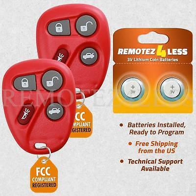 Car Key Fob Keyless Entry Remote Red For 2004 Pontiac Grand Prix