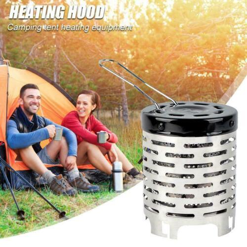 Portable Heater Butane Gas Stove Heater Burner Warm Cap Cover Winter Outdoor UK