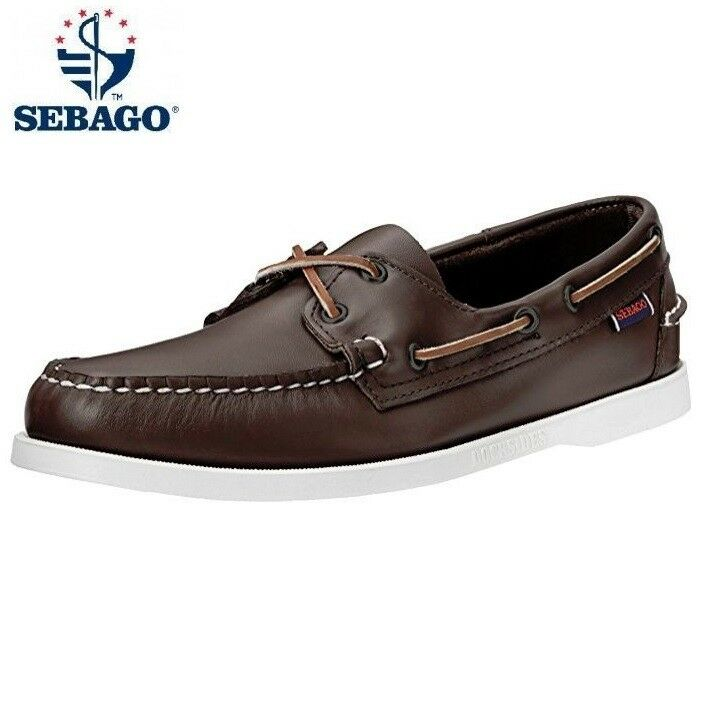 Mens Sebago Docksides Leather Lace Up Smart Casual Formal Boat Deck shoes Size
