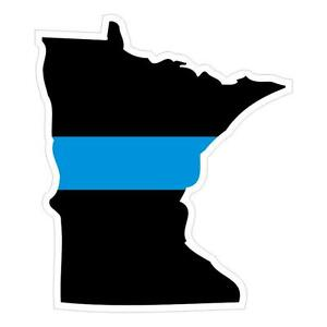 Minnesota-MN-State-Thin-Blue-Line-Police-Sticker-Decal-187-Made-in-U-S-A