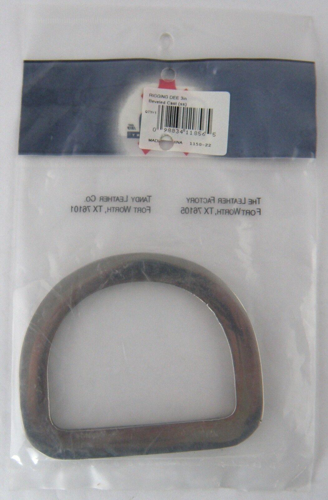 "7.6 cm Tandy Leather #1150-22 Premium Bevel Cast Rigging Dees 3/"""