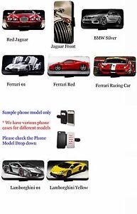 Supercar-Jaguar-coche-de-carreras-cartera-de-cuero-funda-para-telefono-S7-Edge