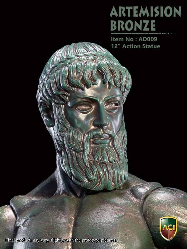 ACI 1 6 Scale 12  Action Statue Artemision Bronze color AD009