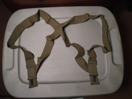 10 x GENUINE USGI MILITARY ISSUE OD GREEN ADJUSTABLE TROUSER SUSPENDERS NEW 1989