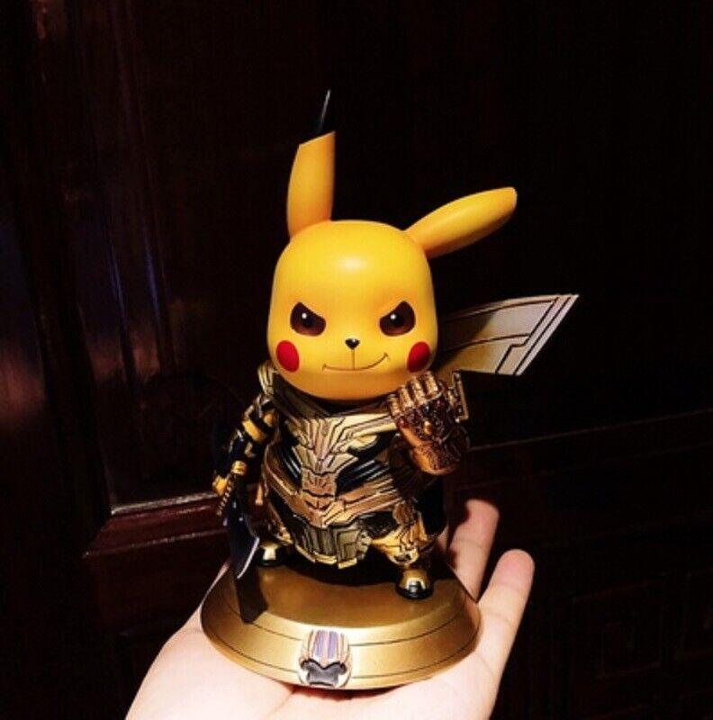Newbra Pikachu cos El Vengador Thanos Coleccionables De Resina Figura De Acción En Stock
