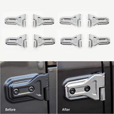 8pcs Chrome Door Hinge Cover For 2018 Jeep Jl Wrangler Unlimited 4 Door Parts