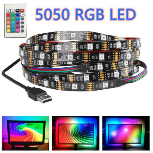 5050 RGB LED STRIP USB Colour Changing Lighting Kit PC Background LED Light TV