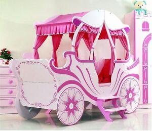 das bild wird geladen bett kutsche pink kinderbett maedchen und prinzessin kutschenbett