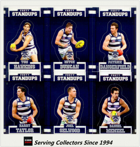 2017 Select AFL Footy Stars Trading Cards Footy Standups Team Set 6GEELONG