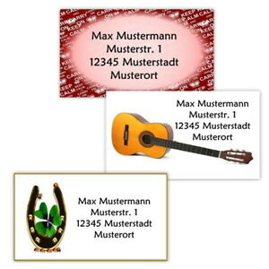 40-Adressetiketten-Adressaufkleber-oder-10-Visitenkarten-Motiv-034-Diverses-034