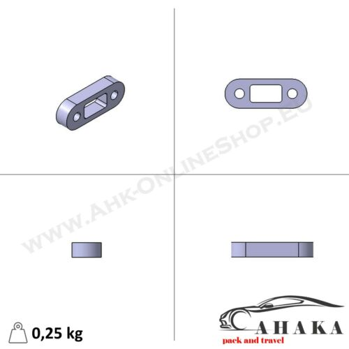 Distanzplatte Kugelkopfverlängerung 25mm VW Amarok 2010 für Anhängerkupplung