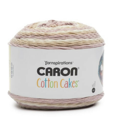 NEW Caron Cotton Cakes Yarn Rose Whisper Color 8.8oz 250g 530yds 485m