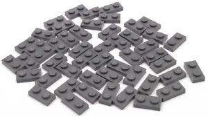 LEGO-50-x-Platte-1x2-dunkelgrau-Dark-Bluish-Gray-Plate-1-x-2-3023-NEUWARE