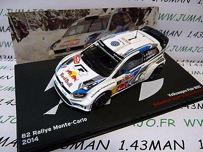 1/43 IXO altaya Rallye Belgique : VOLKSWAGEN POLO WRC Monte Carlo 2014 Ogier