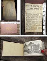 Antique Vintage World War I WWI Era Paris Postcard Booklet Set France 20 card