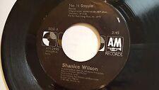 "SHANICE WILSON - No 1/2 Steppin / Summer Love 1987 R&B Funk Swing (7"")"