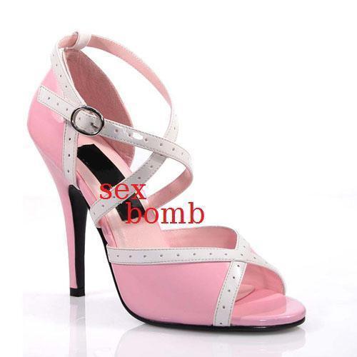 SEXY Sandale tacco 13 n 38 fashion ROSA BABY/BIANCO scarpe cinturino fashion 38 GLAMOUR 3a6672