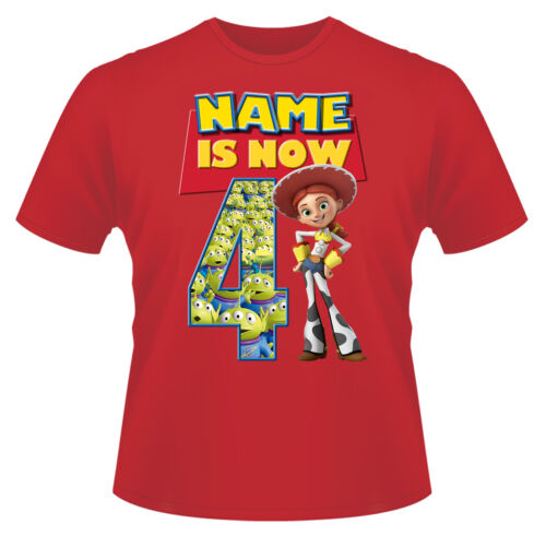 Toy Story Jessie Personalised Boys Girls T-Shirt Age 4 Ideal Gift//Present