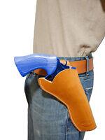 Barsony Tan Leather Cross Draw Gun Holster For Taurus 6 Revolvers