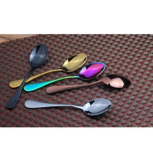 1x-Cafe-Cutlery-Stainless-Steel-Teaspoon-Dessert-Spoon-L-140mm-4-Colors