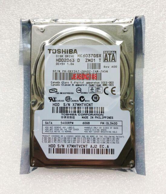 "2.5 ""60GB 5400RPM Toshiba MK6037GSX SATA Notebook hard drive"