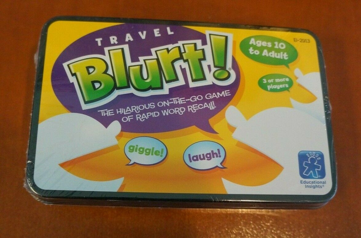 New Sealed Travel Blurt Word Game by Educational Insights 2