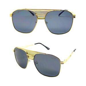 78c454718c4923 Lunettes Soleil 3 Ponts Doré Pilote Aviator Streetwear Luxury OR ...