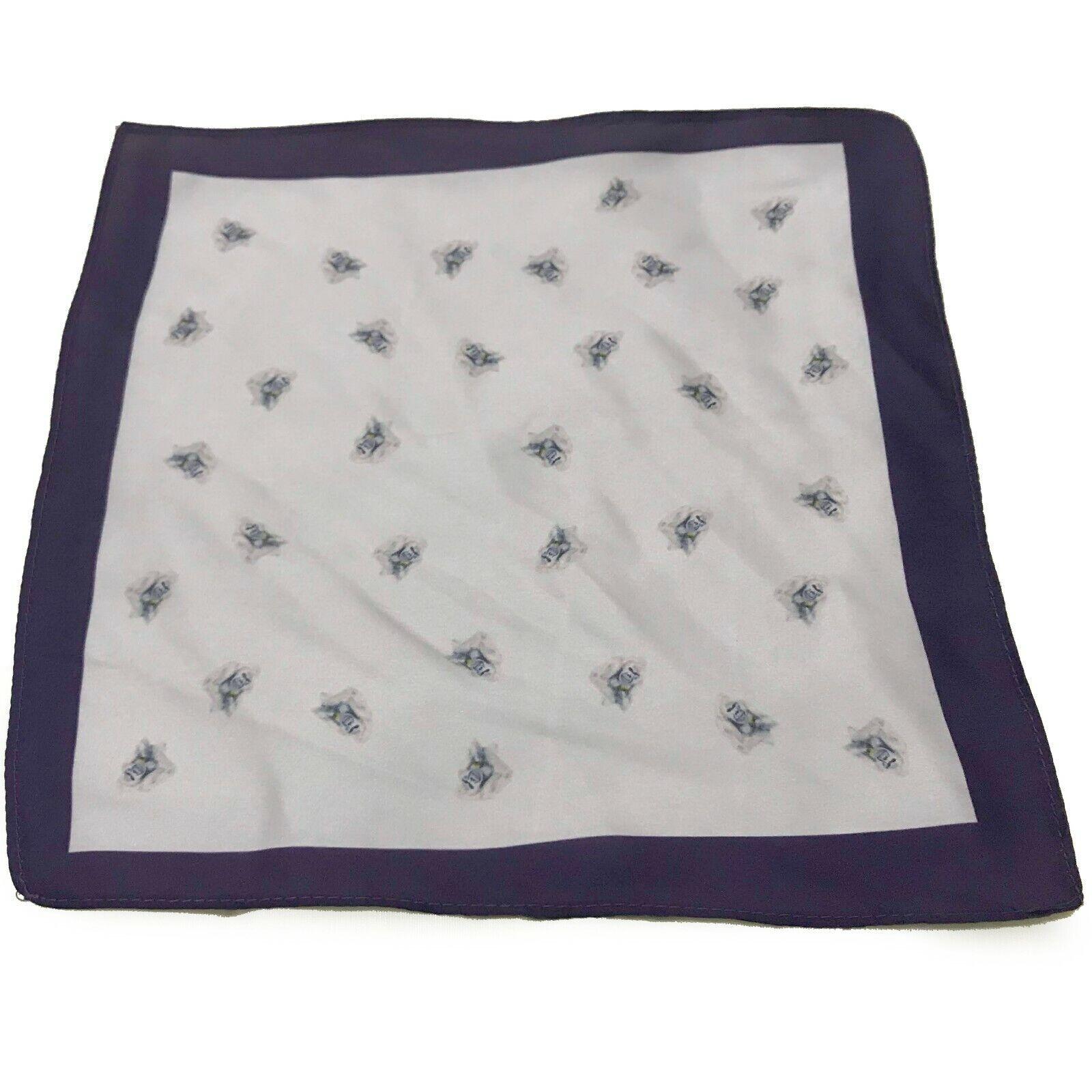 Gorilla Design Pocket Handkerchief Hanky Square Wedding Animal Navy Grey