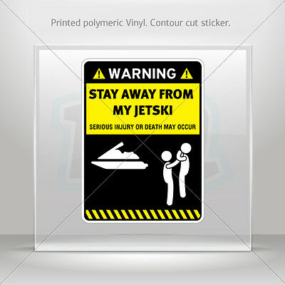Sticker Decals Warning Sign Funny Stay Away From My Dj Decks car st5 X4ZE8