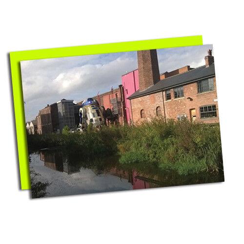 Kelham Island/'s Bessemer réinventé comme R2D2 Fun Sheffield Carte de vœux