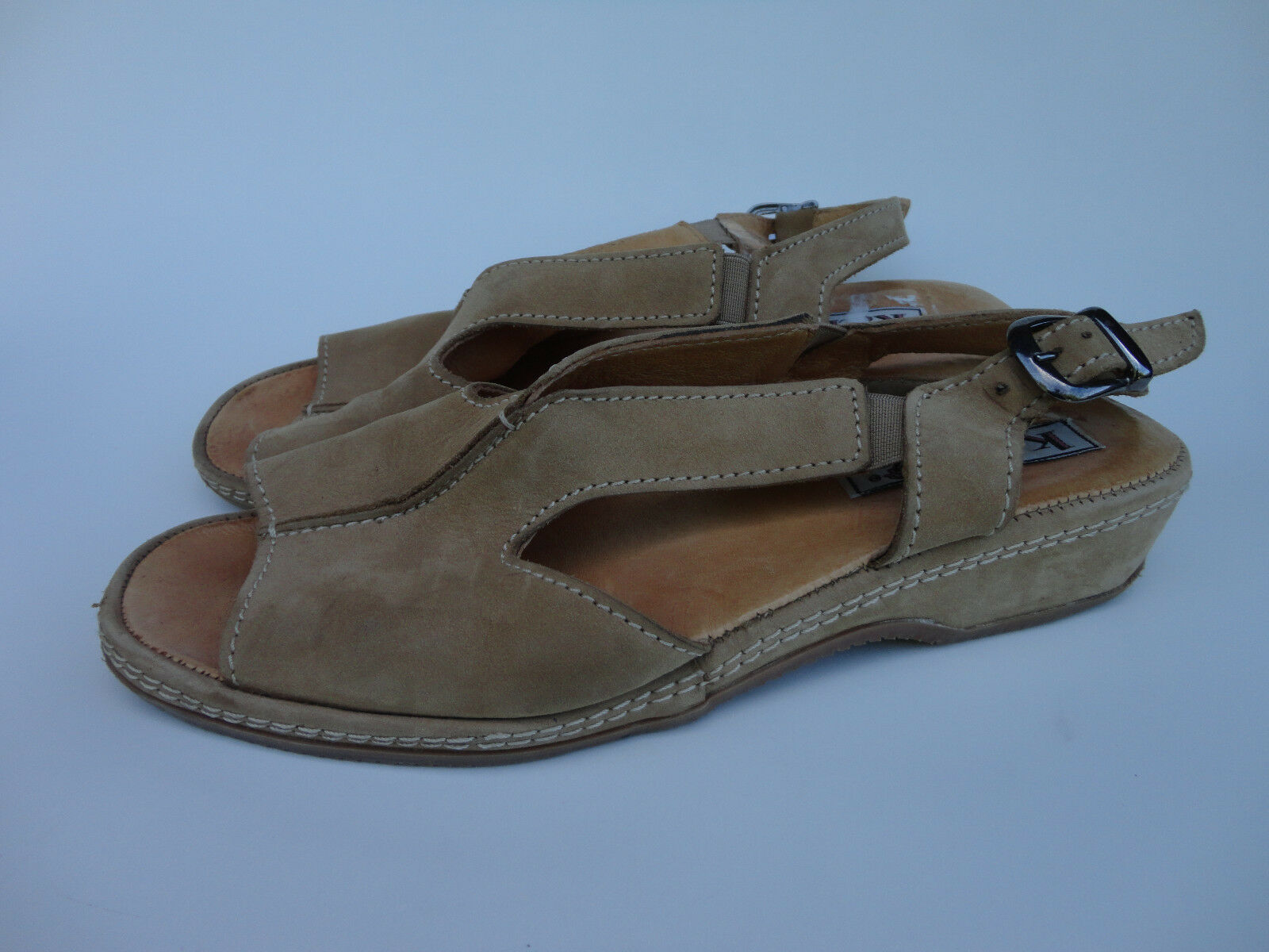 Katrin Made in Italy Sandal {Women Size Eur38} Tan Leather Sandal Italy Shoes a9e484