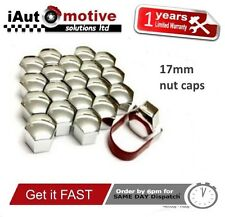 20x 17mm Alloy Wheel Nut Caps Bolt Covers Audi VW Vauxhall Bmw Mercedes Renault