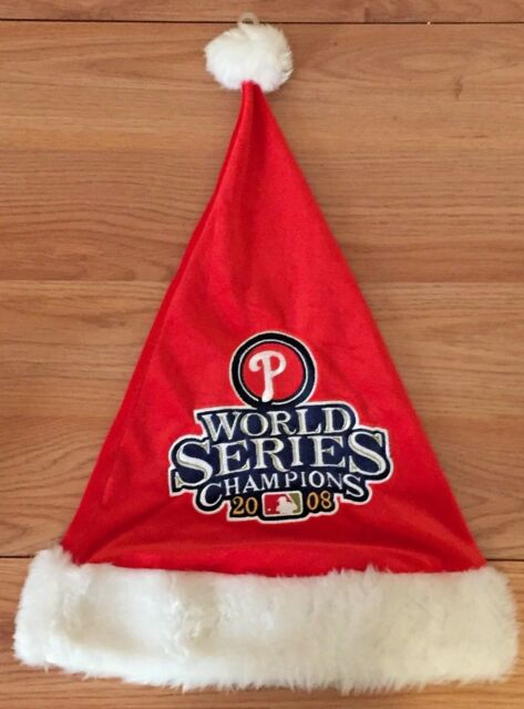 Philadelphia PHILLIES World Series Champions 2008 Santa Christmas Hat