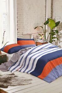 Quilt-Duvet-Cover-Set-Stripes-Single-KS-Double-Queen-King-Super-K-100-Cotton