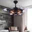 42-034-Industrial-Semi-Flush-Chandeliers-Retractable-Ceiling-Fans-Pendant-Lamp thumbnail 2