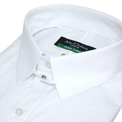 James Bond collar Bankers Cotton shirt Mens Sky Blue pin stripes Loop Tab Gents