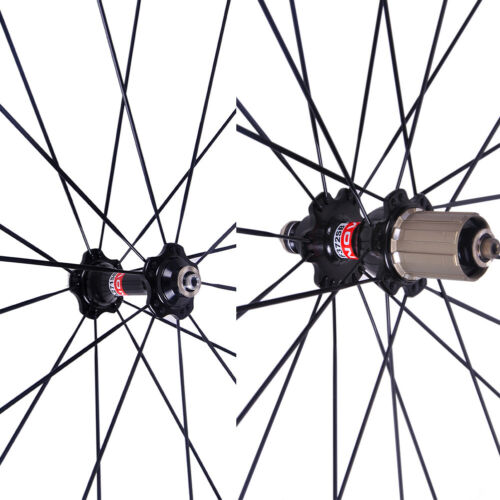 no skewer Novatec A271SB//F372SB bike Black Red hub shimano 8//9//10//11S 20//24H
