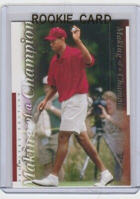 Tiger Woods Rc Upper Deck Golf Rookie Card Premier Edition