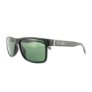 472975a28c Details about Hugo Boss Sunglasses 0768 QNX 85 Black Grey Green