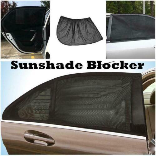 Universal Car Window Sun Shade Curtain Fits all Cars Front Rear Black J5O4