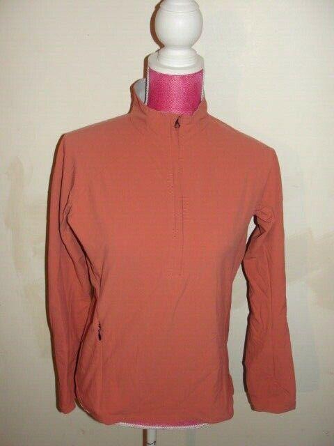 Women's Mountain Hardwear 1/2 Zip Pullover Athletic Jacket, Salmon, Small